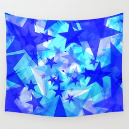 Glowing starfish on a light background in projection and with depth. Wall Tapestry