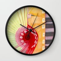 deco Wall Clocks featuring Deco by angela deal meanix