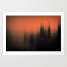 Blurred Parliament Art Print