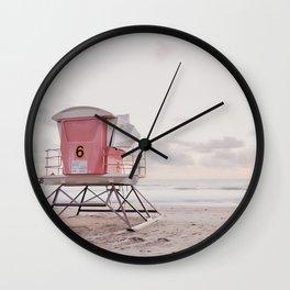 Lifeguard Tower No. 6 Wall Clock
