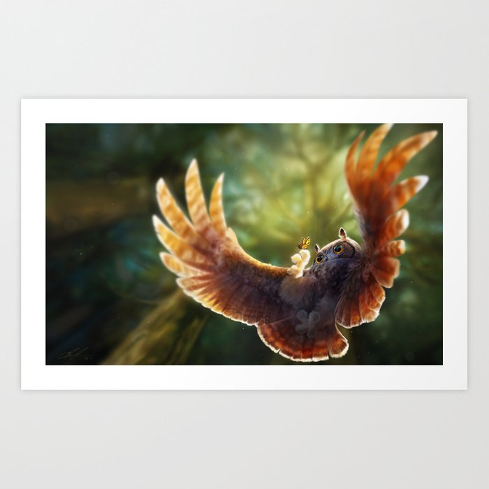 Caught in the moment Art Print