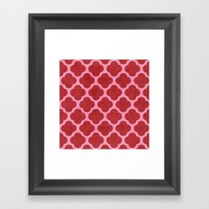 red and pink clover Framed Art Print