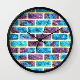 Unique Space bricks pattern Wall Clock