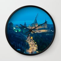 ukraine Wall Clocks featuring Kamianets-Podilskyi Castle (Ukraine) by Limitless Design