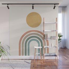 Mid-Century Modern Rainbow Wall Mural