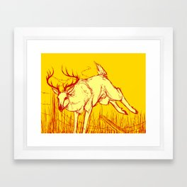 Barbed Wire Prince Framed Art Print