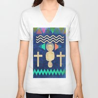 hercules V-neck T-shirts featuring HERCULES by Diego Ascoli