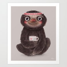 Sloth I♥yoga Art Print