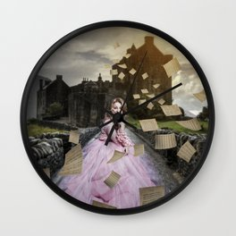 flying papers Wall Clock
