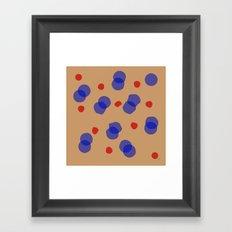 Quaint Blue Circles Framed Art Print