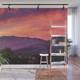 Fiery Sunset Wall Mural