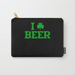 I Love Beer Irish St. Patrick's Day Carry-All Pouch