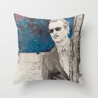 "rushmore Throw Pillows featuring ""Rushmore"" by Littlefield Designs"