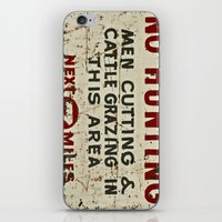 hunting iPhone & iPod Skins featuring No Hunting! by Bruce Stanfield