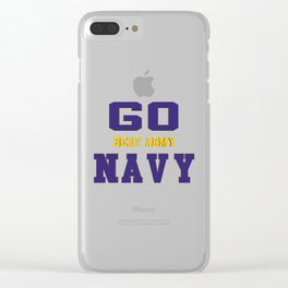 GO NAVY- Beat Army Clear iPhone Case