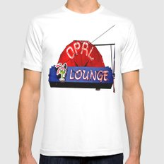 Opal Lounge MEDIUM White Mens Fitted Tee