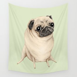 Sweet Fawn Pug Wall Tapestry