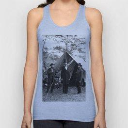 Antietam, Md. Allan Pinkerton, President Lincoln, and Maj. Gen. John A. McClernand Unisex Tank Top