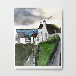"The ""Hie Gait"" in Dysart, Scotland: Architecture Art Print Metal Print"