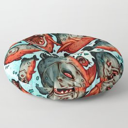 Frenzy Piranhas Floor Pillow