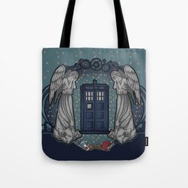 Art Nouveau Weeping Angels and the TARDIS Tote Bag