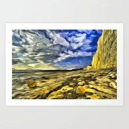 Birling Gap And Seven Sisters Van Goth Art Print