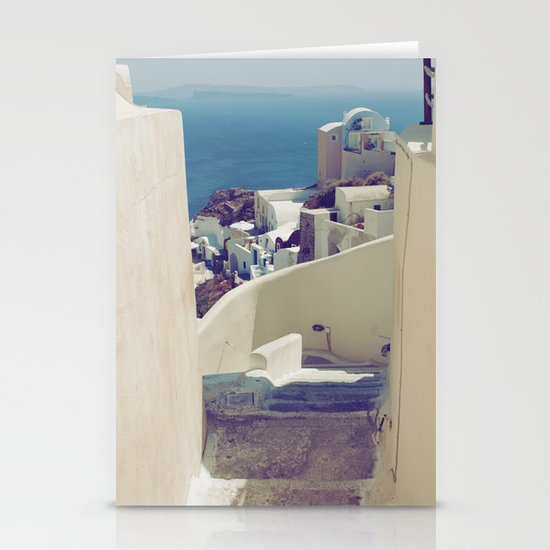 Santorini Stairs IV Stationery Cards