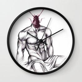 LADYBOY - drawing by Davy Oldenburg Wall Clock