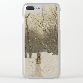 Winter in the Scheveningen Woods - Anton Mauve (1870 - 1888) Clear iPhone Case