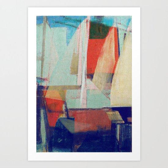 Stilt House 2 Art Print