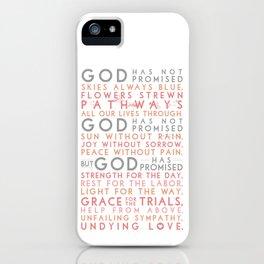 God has promised iPhone Case