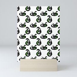 Snake with Scarf Pattern Mini Art Print