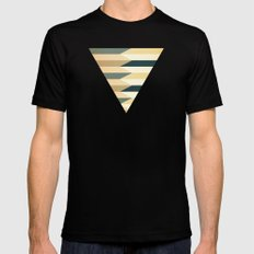Pencil Clash I MEDIUM Black Mens Fitted Tee