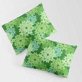 Modern Floral Kimono Print, Lime Green Pillow Sham