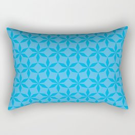 Cyan Diamond Flowers Rectangular Pillow