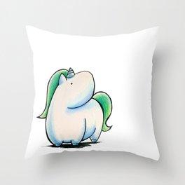 Gazing Unicorn Throw Pillow