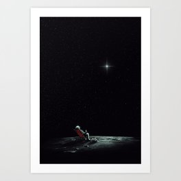 Space Chill Art Print