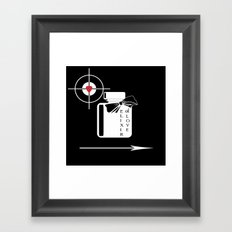 An elixir of love .Black background . Framed Art Print