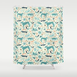 Park Dogs Shower Curtain