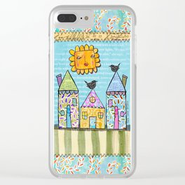 Pretty Little Houses Clear iPhone Case