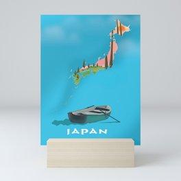 Japan Fishing Boat travel map Mini Art Print