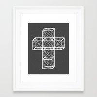 cross Framed Art Prints featuring Cross by Dizzy Moments