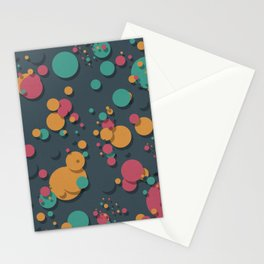 """""""Retro Colorful Polka Dots"""" Stationery Cards"""