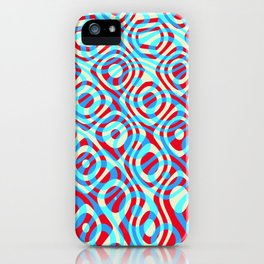 Mixed Polyps Red Blue - Coral Reef Series 035 iPhone Case