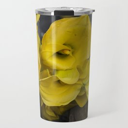 Yellow Callas Travel Mug
