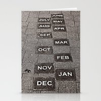 calendar Stationery Cards featuring Calendar Walk by Ethna Gillespie