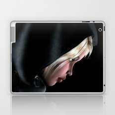 Hooded Girl Profile Portrait Laptop & iPad Skin