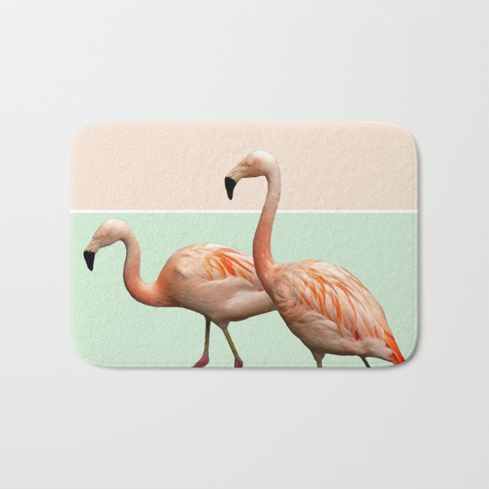 Flamingo Pastel Art #society6 #decor #fashion #buyart Bath Mat