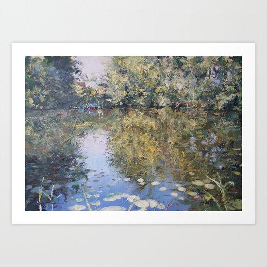Brauensdorf river scene Art Print