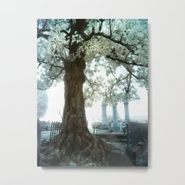 Cemetery Infrared Metal Print
